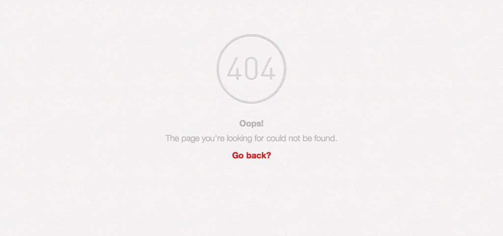Pinterest 404 Page