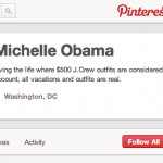 Fake Michelle Obama Pinterest Account