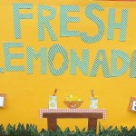 Poster offering fresh lemonade