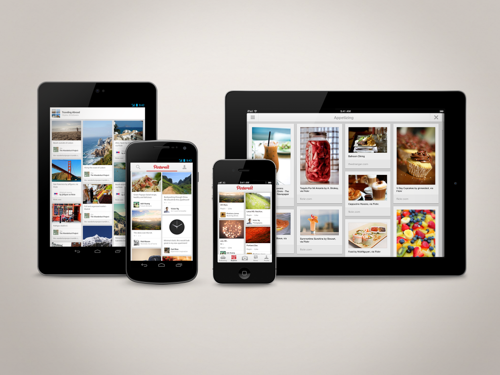 Pinterest Mobile Apps